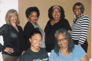 front row-Aziza Macklin, Deborah Macklin back row-Suzanne Parks, Lisa Carol Shepherd, Patricia Wallace-Winbush, Vicki Saunders